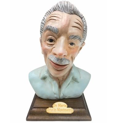 Busto Eduardo De Filippo in terracotta 20 cm