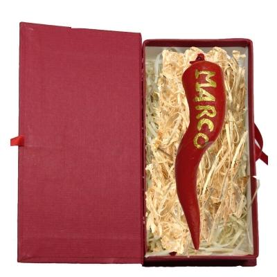 Corno 7 cm personalizzato col tuo nome in scatola regalo