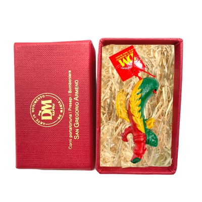 Asso di Bastoni in terracotta 8 cm con scatola regalo