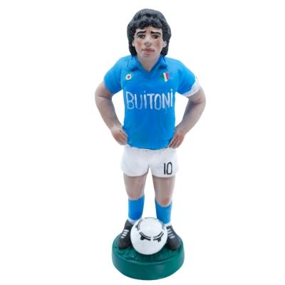 Statuetta Maradona in terracotta 17 cm