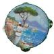 Tamburello con dipinto di Pulcinella 8 cm