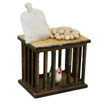 Bancarella dell'ovaiola per pastori da 10 cm