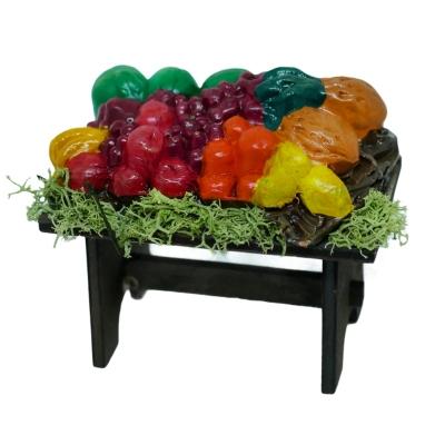 Bancarella del fruttivendolo per pastori da 10 cm