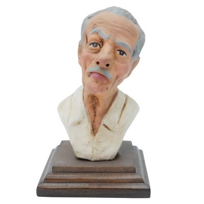 Busto Eduardo De Filippo in terracotta 10 cm