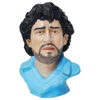 Busto di Maradona in terracotta 30 cm