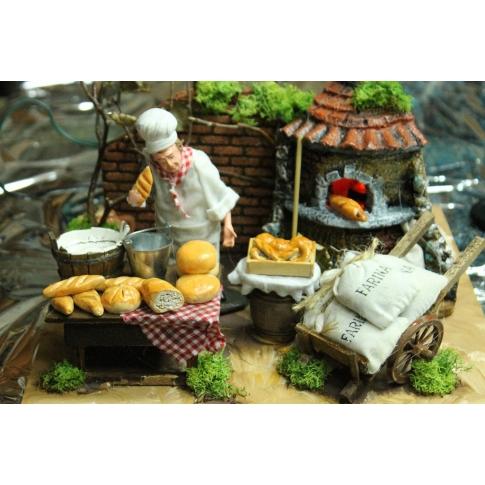 Venditore di pane in movimento 15 cm