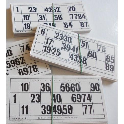 24 cartelle per tombola