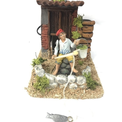 Pescatore in movimento 10 cm