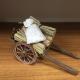 Carretto con sacchi e fascine per pastori da 10 cm
