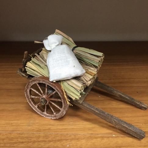 Carretto con sacco e fascine per pastori da 10 cm