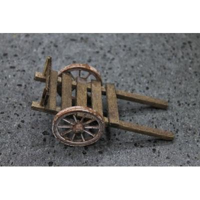 Carretto in legno per pastori da 10 cm