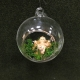 Pallina di Natale in vetro soffiato con Gesù bambino all'interno 8 cm