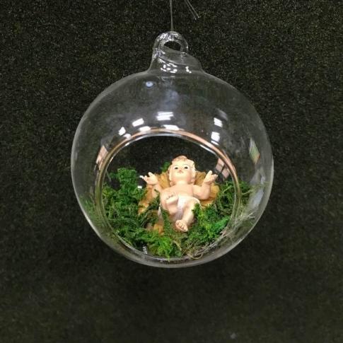 Fabuleux Pallina di Natale con gesù bambino, Addobb | Albero di Natale  ZJ98
