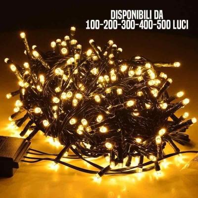Luci LED bianco caldo per albero di Natale - Per uso interno ed esterno
