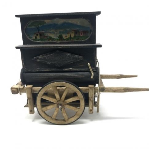 Pianino antico artigianale per pastori da 15 cm