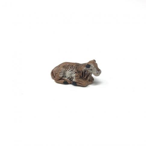 Bue della Natività in terracotta 2 cm