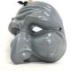Maschera di Pulcinella grigio in terracotta 13 cm