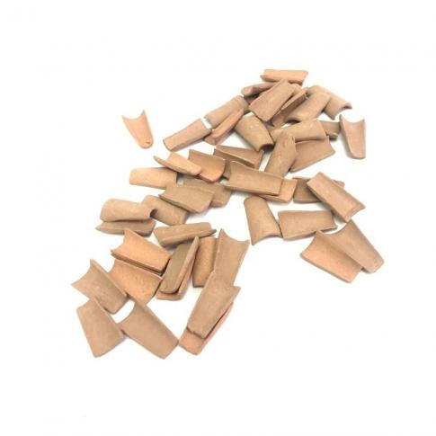 Confezione 50 tegole in terracotta 1 cm
