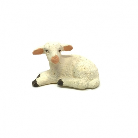 Agnello seduto in terracotta 10 cm
