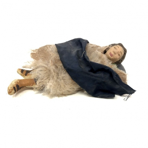 Benino in terracotta con vestiti di stoffa 10 cm