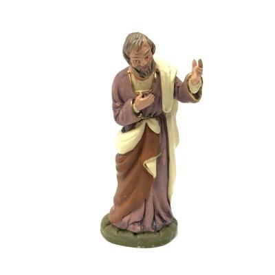 San Giuseppe in terracotta 12 cm