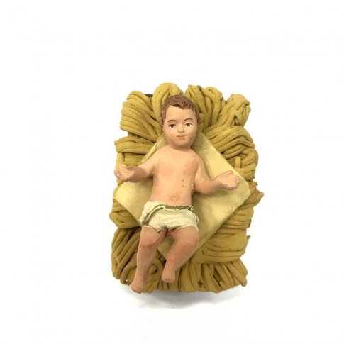 Bambino Gesù in terracotta 12 cm