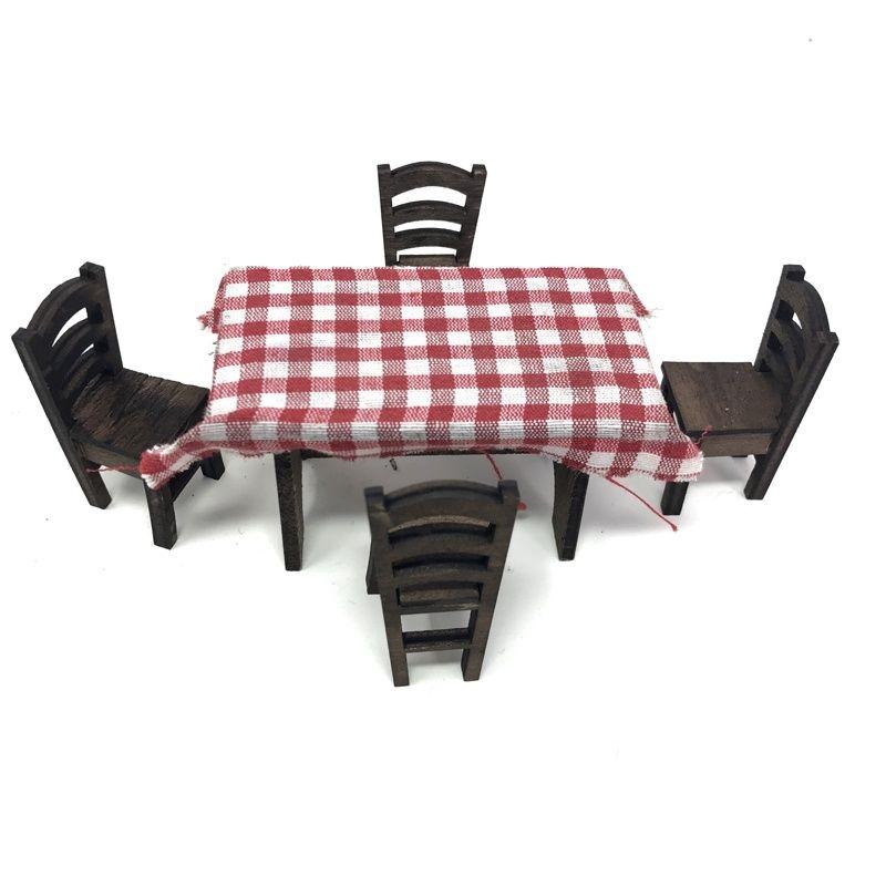 Tavolo e banchi mestieri in legno per presepe carretti napoletani - Sedie per tavolo in legno ...