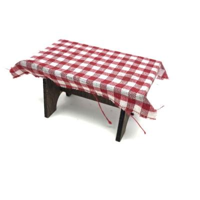 Tavolo con tovaglia per pastori da 10 cm