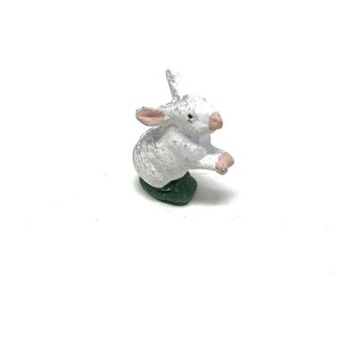 Coniglio con gambe alzate in terracotta 7 cm