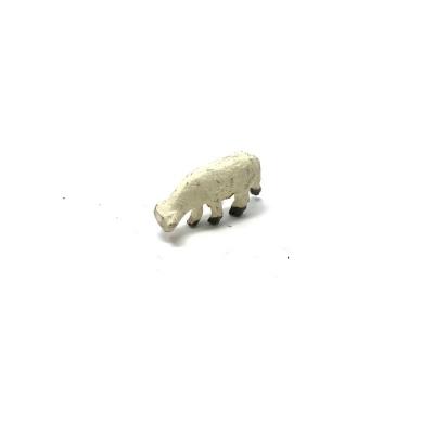 Pecora in terracotta con testa abbassata 2-3 cm