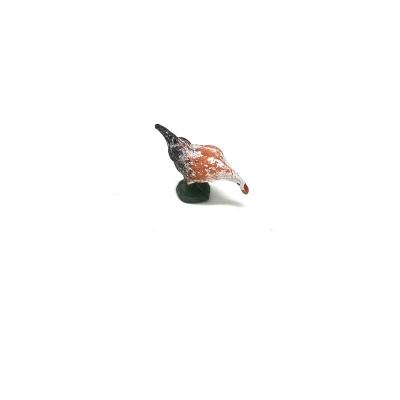 Gallina con testa abbassata in terracotta 4 cm
