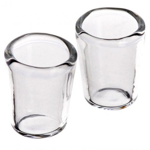 set da 2 bicchieri in vetro per pastori da 7 a 12 cm