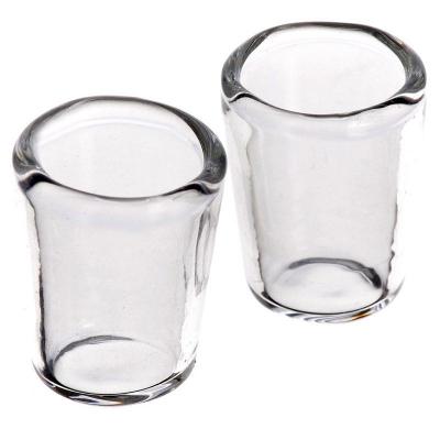 coppia di bicchieri in vetro per pastori da 7 a 12 cm