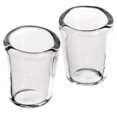 Coppia di bicchieri in vetro per pastori da 12 a 15 cm