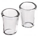 Set da 2 bicchieri in vetro per pastori da 12 a 15 cm