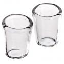set da 2 bicchieri in vetro per pastori da 20 a 40 cm
