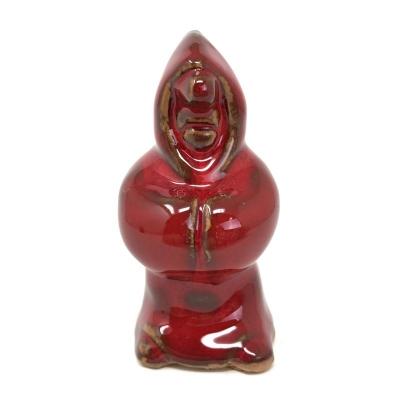 Statuetta O Munaciello colore rosso in terracotta 10 cm