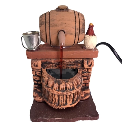 Vinaio in legno presepe fontana 12 cm