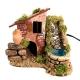 Casa antica con cascata in terracotta 14 cm
