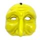 Maschera di Pulcinella gialla in terracotta 13 cm