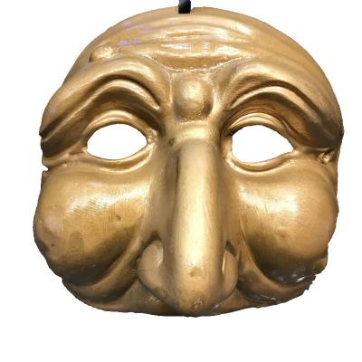 Maschera di Pulcinella oro in terracotta 13 cm dfd2025eec0f