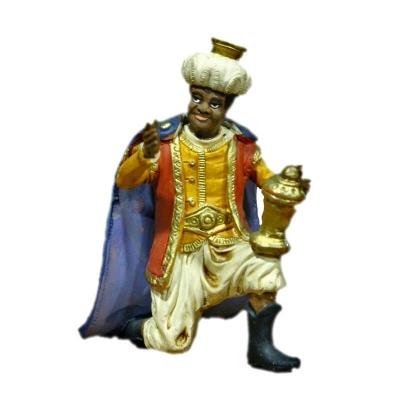 Re Magio con oro in terracotta 12 cm