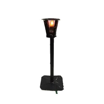 Lampione in ferro con luce 13 cm