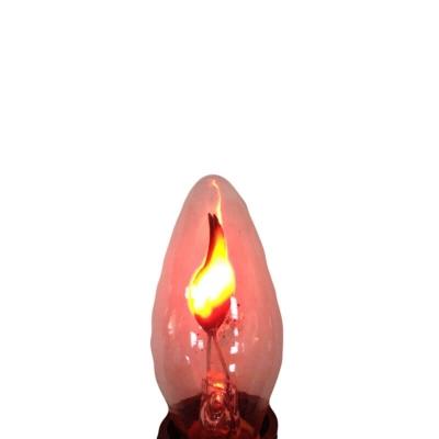 lampadina luce effetto fuoco presepe