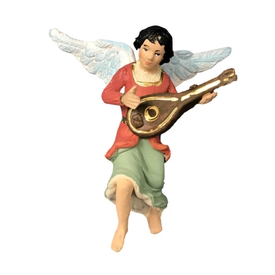 Angelo con mandolino in terracotta 10 cm
