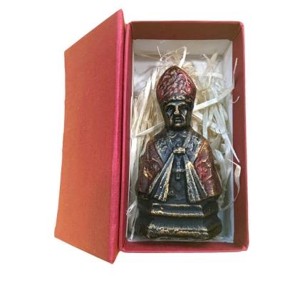 Busto San Gennaro in scatola regalo statuina presepe
