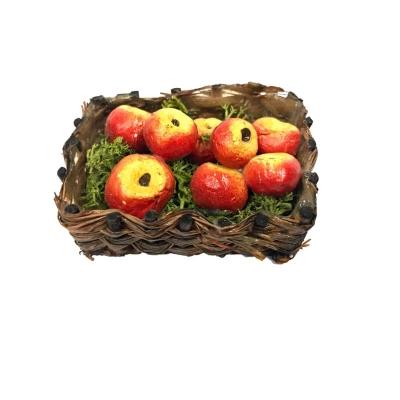 Cestino con mele per pastori da 10 a 12 cm