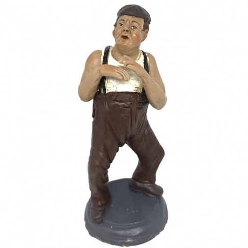 Statuetta Paolo Villaggio Fantozzi in terracotta 17 cm