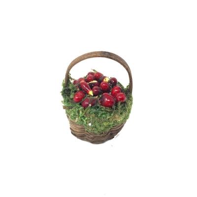 Cestino con pomodori per pastori da 10 cm