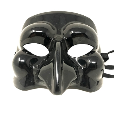 Maschera di Pulcinella in plastica da indossare